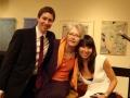 (L-R) Randy Napoleon, Linda Yohn (music director WEMU), vocalist Melissa Morgan